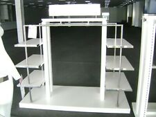 White & Chrome Lauren Garment Rack & Shelving Display Combo Rack