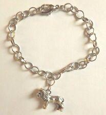 bracelet argenté 21 cm lion