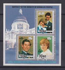 1981 Royal Wedding Charles & Diana MNH Stamp Sheet Niue Surch SG