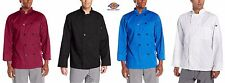 Dickies Men's Paolo Classic Chef Coat Basic Long Sleeve Chef Jackets DC122