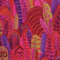 Kaffee Fasset Fabric - Feathers - Red the Kaffe Fassett Collection BTY