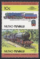 Tuvalu niutao loco 100 GORDON austerità Locomotiva Regno Unito FRANCOBOLLI Gomma integra, non linguellato