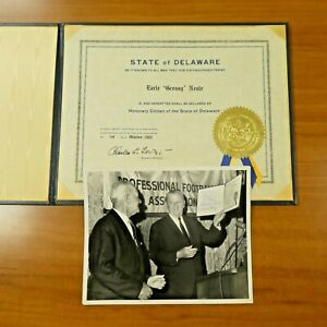"Earle Greasy Neale Honorary Citizen of Delaware Award 11"" x 14"" with Photo"