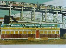 "John Baeder ""Vista Mar Inn"" 1980 Hand Signed Screenprint photo realist USA art"