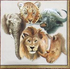 20   paper napkins for decoupage collection Serviette Animal Africa Lion Cheetah
