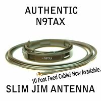 Authentic N9TAX VHF/UHF Slim Jim J-Pole For HT 2m 70cm Antenna 10' Coax