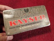 ANTIQUE KAYSER KAYSERSLAUTERN SEWING MACHINE TIN BOX GERMANY GERMAN NÄHMASCHINEN
