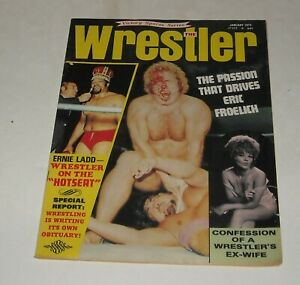 1973 The WRESTLER WRESTLING MAGAZINE BLODY FACE ERIC FROELICH ERNIE LADD EX WIFE