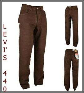 levi's pantaloni jeans uomo levis invernali fustagno regular a vita alta w32 46