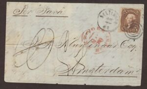 Maryland: Baltimore 1866 #76 British Open Mail Cover to Netherlands Via SS Java