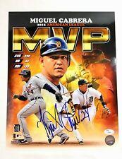 Miguel Cabrera Signed 11x14 Photo Detroit Tigers MVP Triple Crown JSA Coa