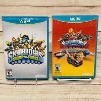 Skylanders Wii U Lot Of 2 Viddo Games: Swap Force & Superchargers