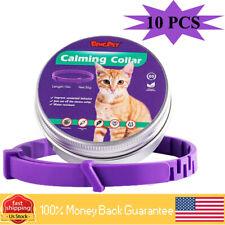 "10 Pack Pet Cat Calming Collar Improve Stress-related Behavior 15"" Long"