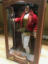 """New Disney Store Beauty and the Beast Gaston Limited Edition 17"""" Doll"""
