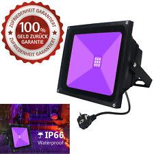 LED Schwarzlicht Strahler 10W Violettes UV Fluter mit Stecker Wasserdicht