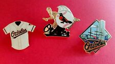 BALTIMORE ORIOLES 3 Cloisonne Pin Set - High Quality - 3 pins - New