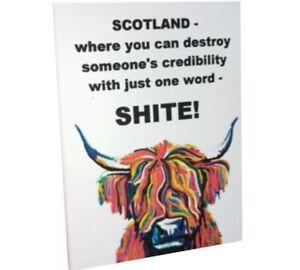 Funny Scottish Wall Art Sarcastic Hanging Plaque unique gift Scotland Humour new