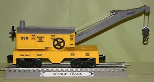 Lionel 16684 Manually Operated US Navy Bucyrus Erie Crane Car (O/027 gauge) 1994