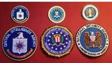 FBI, NSA & CIA Patch Set & Stickers