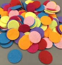 "200PCS Mixed Colors Die Cut Felt Circle Appliques Cardmaking decoration 25mm/1"""