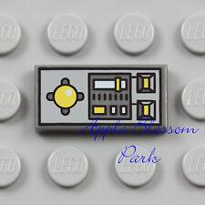 NEW Lego Plane DASH BOARD CONTROL TILE Gray 1x2 Minifig Vehicle Computer Panel