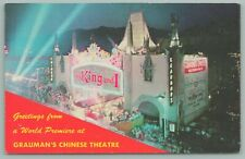 Hollywood California~Grauman's Chinese Theatre~Night~Spot Lights~King & I~1956