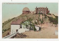 Lick Observatory Mt Hamilton California Usa Vintage Postcard Us022