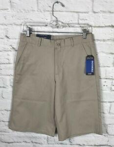 NEW Nautica Boys Khaki School Uniform Shorts Size 18