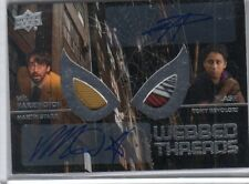 2017 UD Spiderman Martin Starr NED Tony Revolori FLASH DUAL Wardrobe Autograph