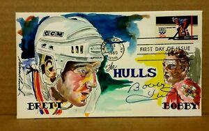 "Brett & Bobby Hull Wild Horse Cachet The Hulls"" Signed by Bobby Hull #48/65"