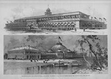 COLUMBIAN FAIR ARCHITECTURE PLANS 1891 TRANSPORTATION AND HORTICULTURE BUILDINGS