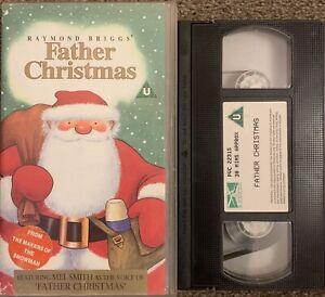 FATHER CHRISTMAS (RAYMOND BRIGGS)-ANIMATED-VHS VIDEO.