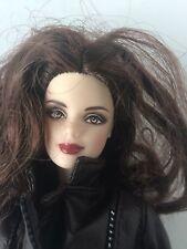 Barbie Doll Brown FAUX LEATHER BOMBER JACKET Pants Rare Htf Ooak Unique