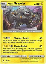POKEMON SUN & MOON GUARDIANS RISING CARD: ALOLAN GRAVELER - 41/145