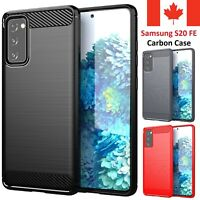 For Samsung Galaxy S20 FE Case - Shockproof Carbon Fiber TPU Heavy Duty Cover