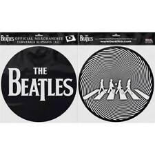 The Beatles Turntable Slipmat Set: Drop T Logo & Crossing Silhouette