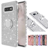 For Samsung Galaxy A6 A7 A8 J4 Plus 2018 Glitter Diamond Bling Stand Case Cover