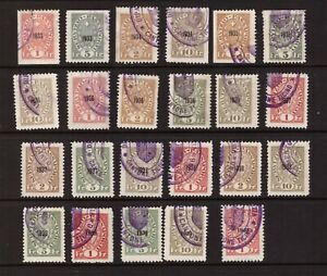 Switzerland 1933 - 1940 Revenue Passport Service used stamps selection
