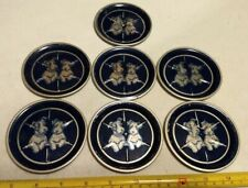 Vintage Wired Hair Jack Russell Terrier? Puppy Dog Tin Metal Coasters Set of 7