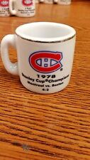 NHL STANLEY CUP CRAZY MINI MUG MONTREAL CANADIENS 1978 CHAMPS W/OPPONENT &SCORE