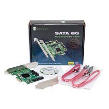 SATA III 4 Port PCIe x1 Scheda Controller con staffe basso profilo Interfaccia RAID