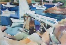 "Maine Artist Barse Miller ( ME/CA 1904-1973) Original W/C titled ""Inner Cove"""