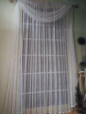 LACE WINDOW PANEL CURTAIN IVORY  60 X 63 CCPA335