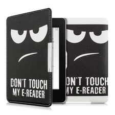 FUNDA DE CUERO SINTÉTICO PARA AMAZON KINDLE PAPERWHITE DON'T TOUCH MY E-READER
