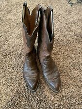 Brahma Cowboy Western Boots Mens Size 10 D Exotic Leather Made in Mexico Vintage