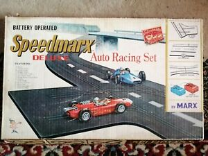 Vintage 1970s Speedmarx Deluxe Auto Racing Set Boxed with Instructions