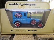 MATCHBOX YESTERYEAR Y5 TALBOT camionnette 1927 NESTLE'S MILK neuf en boite
