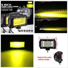 "2 Pcs 5"" 72W LED 3000/6000K Car SUV 4WD 4X4 ATV Fog Driving Lamps Working Lights"