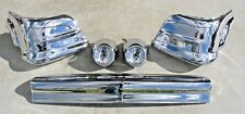 CHEVY CHEVROLET BEL AIR BELAIR NOMAD GM NEW PLATED CHROME FRONT BUMPER 1957 OEM
