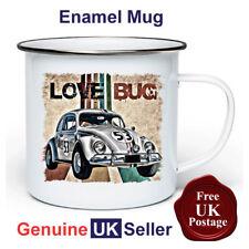 Herbie Love Bug Mug,11oz Enamel Herbie Love Bug Camping Mug, Enamel Cup